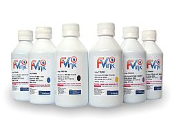 KIT SENSIENT PHOTO COLORS EPSON - Prot. UV - 6 Cores - EPS 7400 + EPI 4820/21/40/60/61 - 500ML